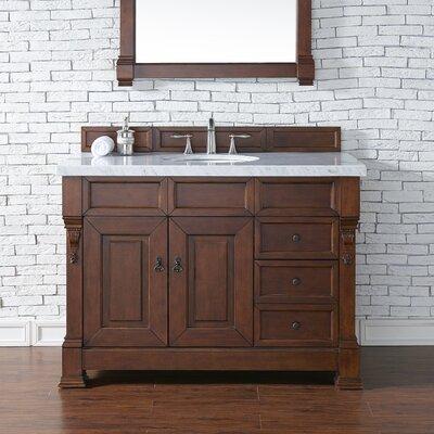 Brookfield 48 Single Bathroom Vanity Base Base Finish: Warm Cherry