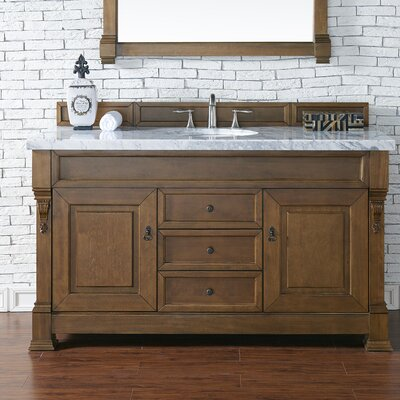 Brookfield 60 Single Cabinet Bathroom Vanity Base Base Finish: Country Oak