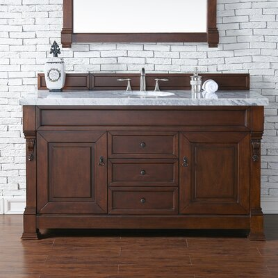 Brookfield 60 Single Cabinet Bathroom Vanity Base Base Finish: Warm Cherry