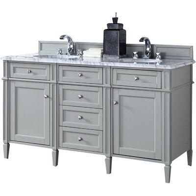 Brittany 60 Double Bathroom Vanity Base Finish: Urban Gray