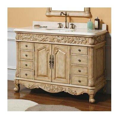 Parchment 48 Single Light Wood Bathroom Vanity Set