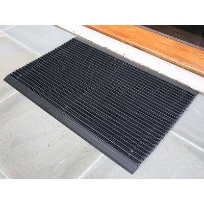 Ultimate Outdoor Bristle Doormat Size: Rectangle 1.5 x 2.5, Color: Black