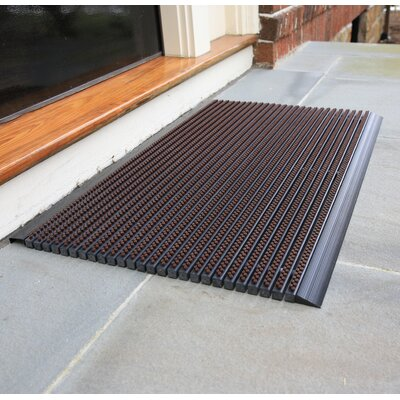 Ultimate Outdoor Bristle Doormat Color: Brown, Size: 1.5 x 2.5
