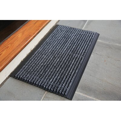 Ultimate Outdoor Bristle Doormat Mat Size: Rectangle 2 x 3, Color: Gray