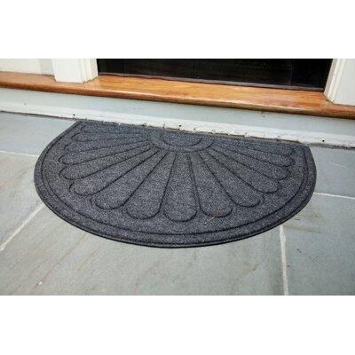 Hailey Sunburst Rubber Back Doormat Color: Black