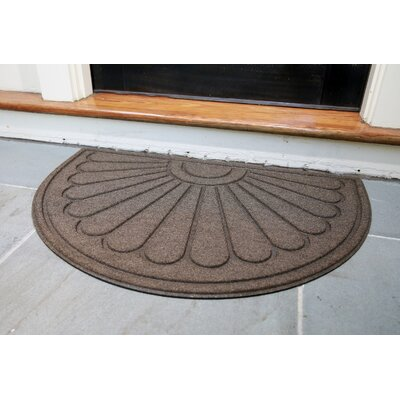 Hailey Sunburst Rubber Back Doormat Color: Brown
