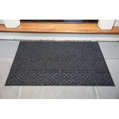 Gladiola Lattice Doormat Color: Dark Gray, Mat Size: Rectangular 18 x 26