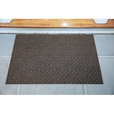 Gladiola Lattice Doormat Color: Walnut, Mat Size: Rectangular 2 x 3