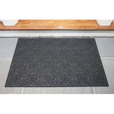 Gladiola Rectangle Rubber Back Doormat Color: Dark Gray, Mat Size: Rectangle 18 x 30