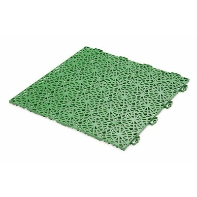Bergo 14.88 x 14.88 Polypropylene Loose Lay/Snap in Tiles in Spring Grass