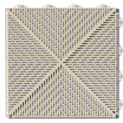 Bergo Soft Antimicrobial 14.88 x 14.88 Polyethylene Loose Lay/Snap in Tiles in Sand