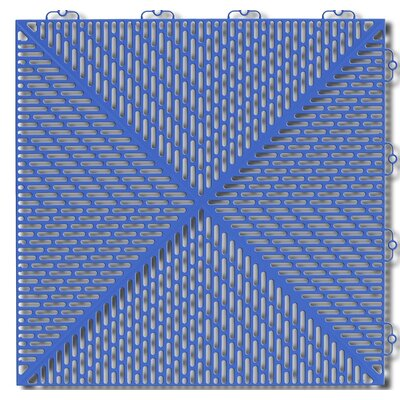 Bergo Soft Antimicrobial Polyethylene 14.88 x 14.88 Loose Lay/Interlocking Deck Tiles in Steel Blue