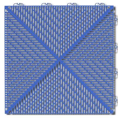 Bergo Soft Antimicrobial Polyethylene 14.88 x 14.88 Loose Lay/Interlocking Deck Tiles in Steel Blue