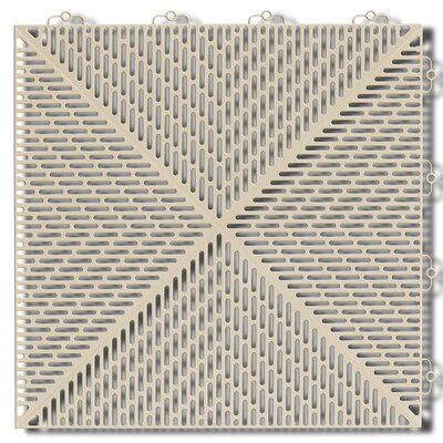 Bergo Soft Antimicrobial Polyethylene 14.96 x 14.96 Loose Lay/Interlocking Deck Tiles in Sand