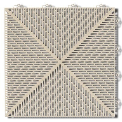 Bergo Soft Antimicrobial Polyethylene 14.88 x 14.88 Loose Lay/Interlocking Deck Tiles in Sand