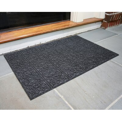 Gladiola Rubber Back Doormat Color: Dark Gray
