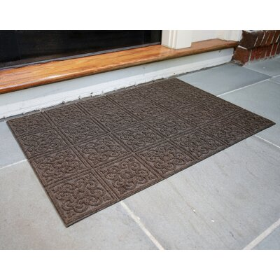 Gladiola Rubber Back Doormat Color: Walnut