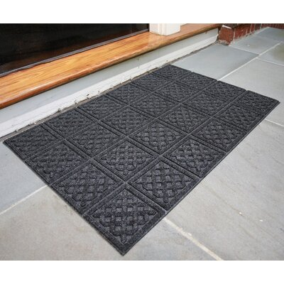 Gladiola Lattice Rubber Back Doormat Color: Dark Gray