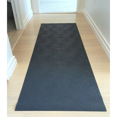 Mattisimo All Weather Runner Mat Color: Graphite Rosette, Size: 26.38 W x 78.96L