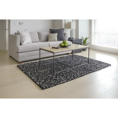 Wool Felt Hand-Tufted Black/Brown Area Rug Rug Size: Rectangle 5' x 7'