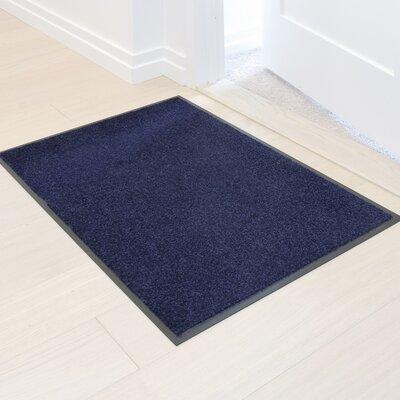 Easy Clean Entrance Doormat Color: Indigo