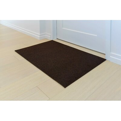 Doormat Mat Size: Rectangle 2 x 3, Color: Walnut