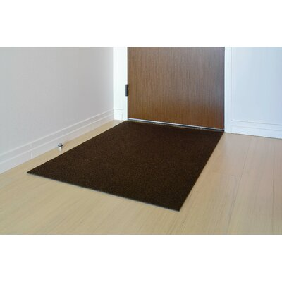 Doormat Mat Size: Rectangle 3 x 4, Color: Walnut