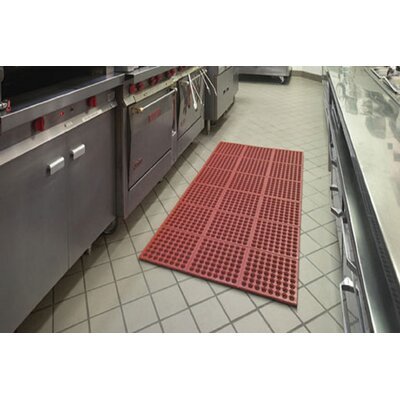 Kitchen Pro Comfort Kitchen Mat Mat Size: Rectangle 36 W x 36 L, Color: Red