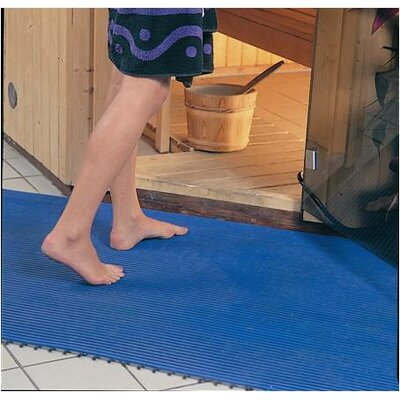 Worlds Best Barefoot Anti-Slip Doormat Size: Rectangle 2 x 6, Color: Libght Blue
