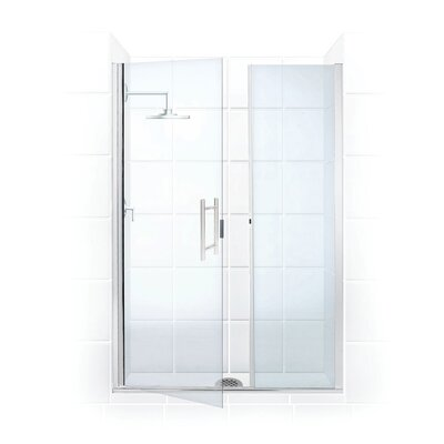 Coastal Industries Illusion Frameless Shower Door & Inline Panel -Trim Finish:Brite Silver, Configurations:L Hinge, Shower Opening Size:Widths up t at Sears.com