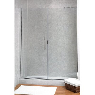 Coastal Industries Paragon Illusion Series Ladder Pull Frameless Shower Door & Inline Panel -Trim Finish:Oil Rubbed Bronze, Configurations:L Hinge, at Sears.com