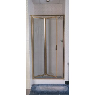 "Coastal Industries Paragon Double Hinge Bifold Shower Door - Frame Finish: Gold, Glass Type: Standard Obscure / Aquatex, Opening Width: 70"" x 22"" at Sears.com"