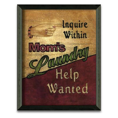Laundry Help Wanted Art Print Wall Art