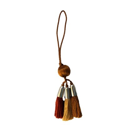 Alessandra Cushion Tassel Color: Brown/Gold/Rust/Camel