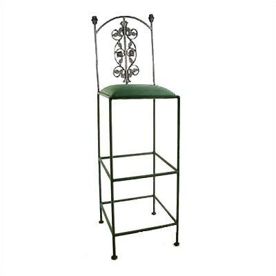 Grace Bar Stool  - Base Finish: Antique Bronze, Upholstery: Mocha at Sears.com