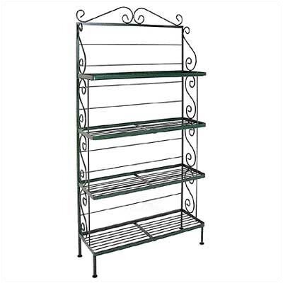 Bakers Rack Brass Tips: Without Brass Tips, Finish: Jade Teal, Size: 30 W
