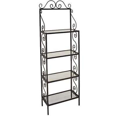 Grace Baker's Rack - Finish: Burnished Copper, Brass Tips: With Brass Tips, Shelf Material: Bleached Wood at Sears.com
