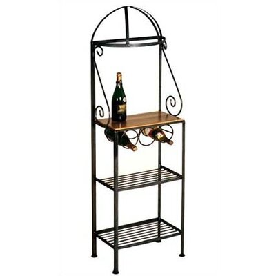 Gourmet Bakers Rack Finish: Aged Iron, Brass Tips: With Brass Tips