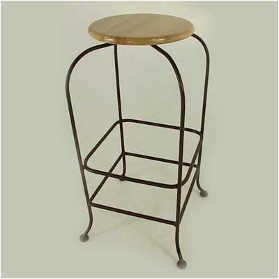 24 Swivel Bar Stool Base Finish: Burnished Copper, Upholstery: Wood