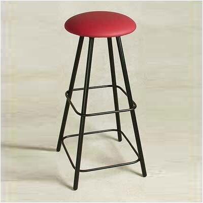 """Grace Straight Leg 36"""" Swivel Bar Stool - Base Finish: Antique Copper, Upholstery: Avanti White"""