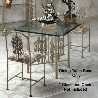 Rose Garden Medium Dining Table Base Metal Finish: Ivory