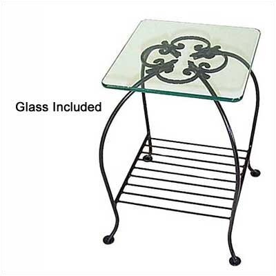 Venetian End Table Metal Color: Ivory