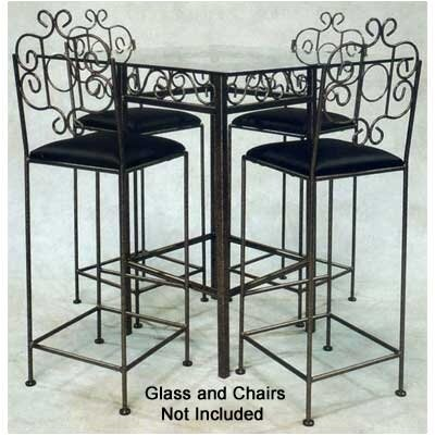 French Counter Height Pub Table Base Finish: Gun Metal