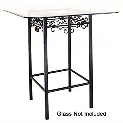 Gothic Counter Height Pub Table Base Finish: Gun Metal