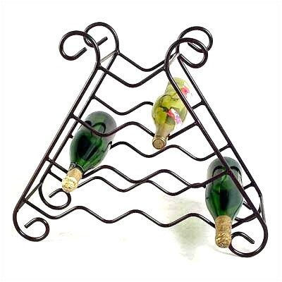 10 Bottle Tabletop Wine Rack Finish: Satin Black