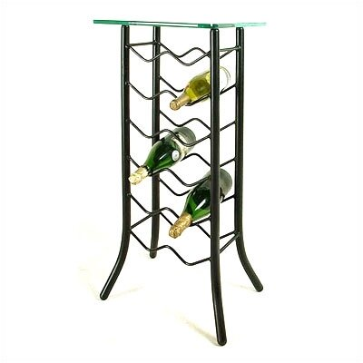 12 Bottle Floor Wine Rack Finish: Satin Black