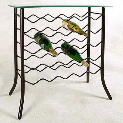Financing 25 Bottle Wine Rack Finish: Aged Ir...