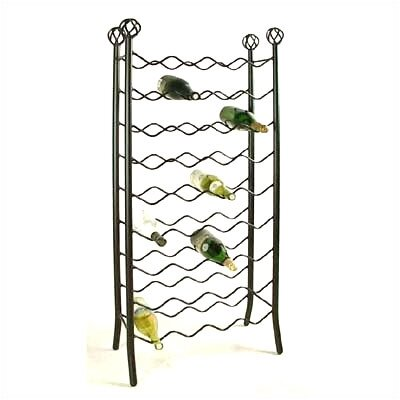 36 Bottle Floor Wine Rack Finish: Satin Black