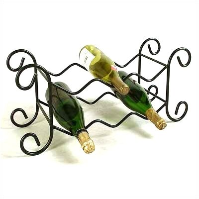 6 Bottle Tabletop Wine Rack Finish: Satin Black