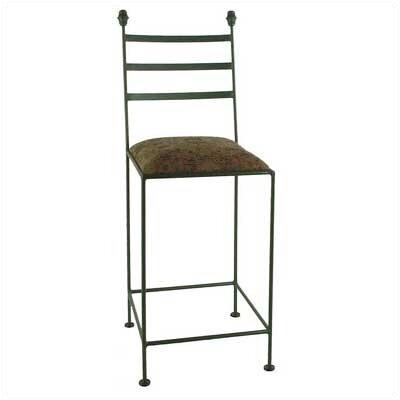 Grace Iron Collar Bar Stool - Upholstery: Nutmeg, Base Finish: Antique Bronze